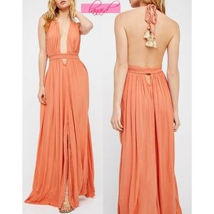 FP Look Into The Sun Maxi Canyon Rose Open Back XS